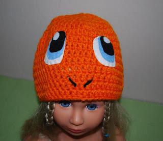 Charamander crochet hat