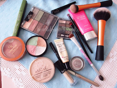 makyajımda kullandıklarım,kozmetik,makeup