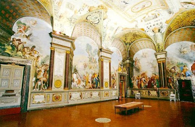 Example of quadratura in Palazzo Pitti