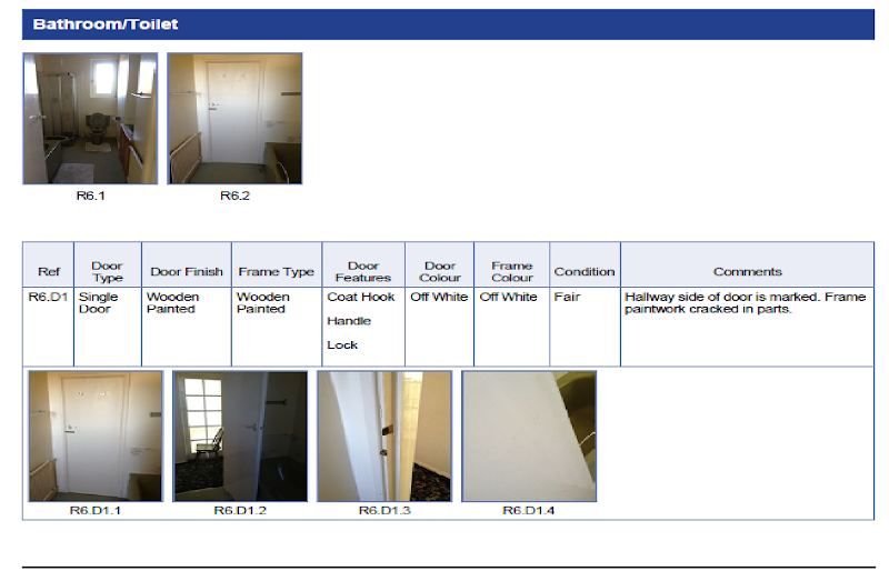Start of a Bathroom/Toilet section, showing overview images of room  title=