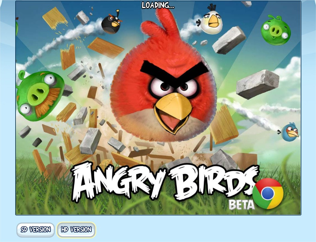 Google chrome themes angry birds war