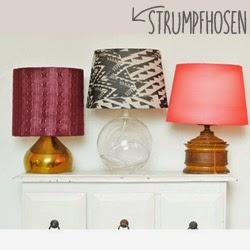 Strumpfhosen wiederverwenden: Designer Lampenschirm