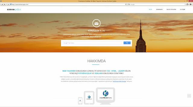 Korhan Çağla için yapılmış Kişisel Web Sayfası
