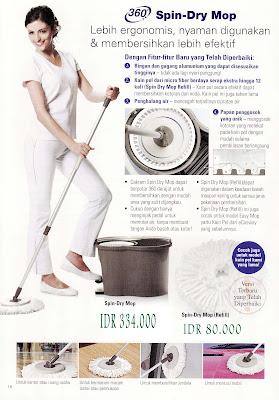 Spin Dry Mop: dapat digunakan untuk kantor atau ruang usaha, untuk bermacam-macam lantai atau permukaan, untuk membersihkan berbagai macam permukaan jendela, untuk mencuci mobil, dan lain-lain.