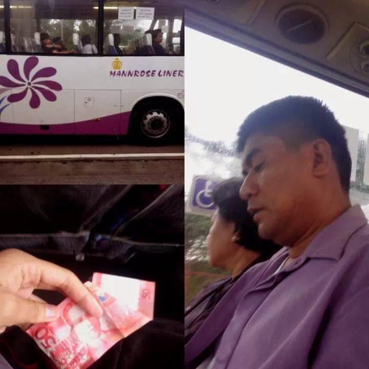 bus conductor helped a citizen by giving 50 pesos