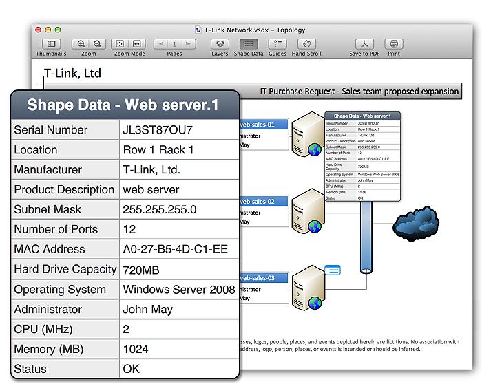 see ms visio shape data on mac - Shape Data Visio