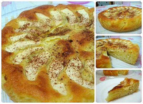 Torta di mele veloce e d'effetto con crema pasticcera - by scrapaholicgal