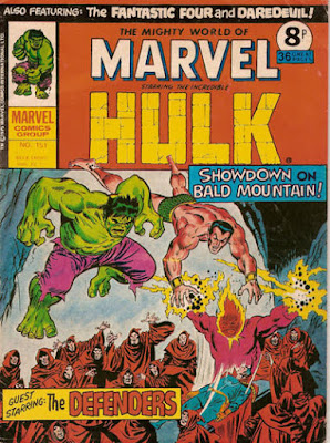 Mighty World of Marvel #151, the Defenders