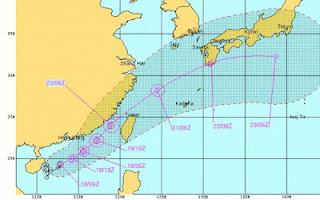 Tropischer Sturm TALIM zieht wahrscheinlich nach Japan, Talim, aktuell, Taifunsaison, Taifunsaison 2012, Juni, 2012, China, Japan, Taiwan, Hongkong, Vorhersage Forecast Prognose,