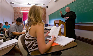 Fr. Wulfstan Clough, O.S.B. teaching at Saint Vincent College
