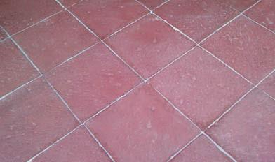 pavimento de piedra artificial roja