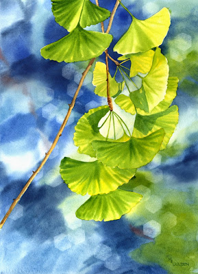 Photographic Bokeh Watercolor, Mary Ellen Golden, The Golden Gallery