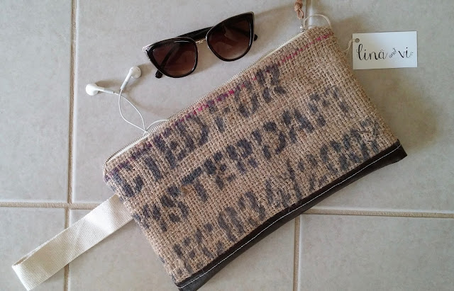 Amsterdam burlap clutch - Lina and Vi