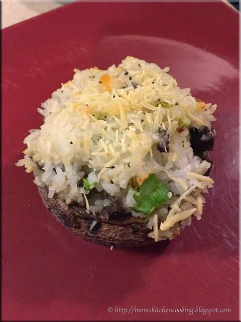 rice stuffed portobello mushrooms