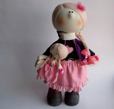Интерьерная текстильная кукла. Авторская работа