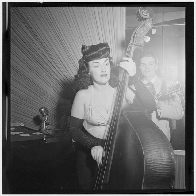 Flashback Summer: 6 Ways to Take a Heart Break - 1940s female bass player