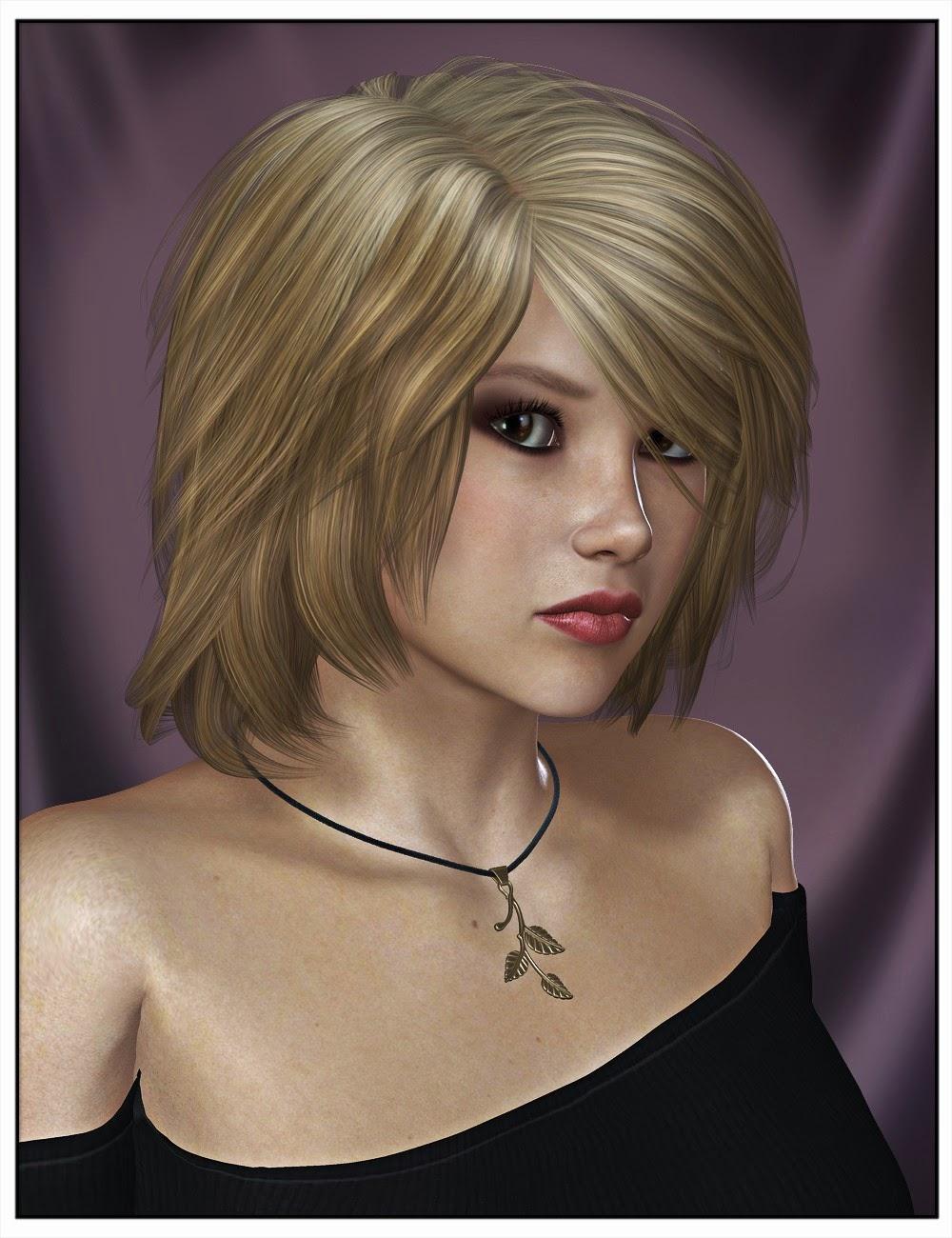 Toby cheveux pour Genesis 2 Femme et Victoria 4