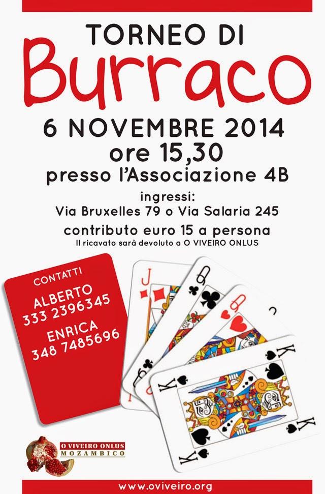 Locandina torneo di Burraco