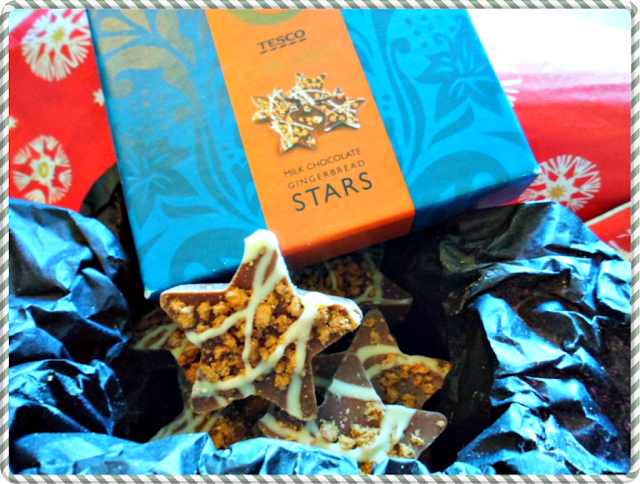 Milk Chocolate gingerbread stars from Tesco