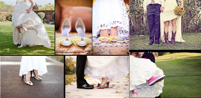 Zapatos originales y transgresores para novia