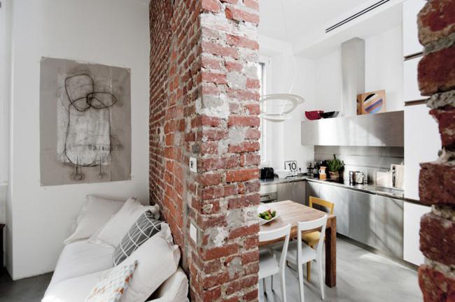 vista salon espacio pequeño loft 30m2