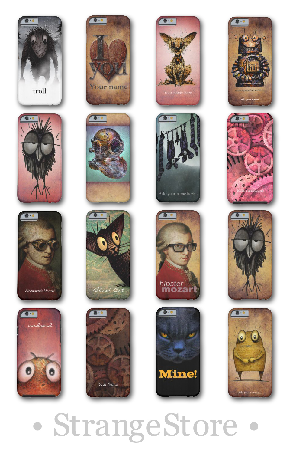 cat iphone6 cases, funny iphone6 cases, strangestore, paul stickland art, steampunk iphone6,