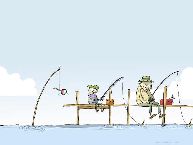 funny picture, cartoon, fishing, humor, lolipop