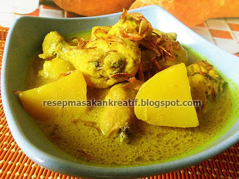 Resep masakan opor ayam bumbu kuning