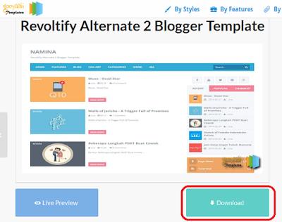 cara mendapatkan template blog responsive gratis di gooyaabi