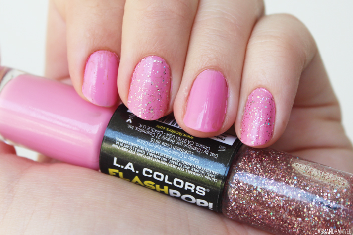 NOTD // L.A. Colors Flash Pop! in Pinksicle - CassandraMyee