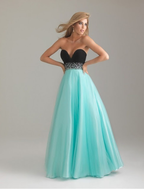 Chiffon and Tulle Sweetheart Strapless Neckline Ball Gown Prom Dress with Beaded Waistline