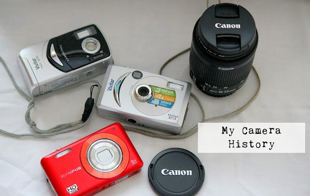 My Camera History DSLR Canon Olympus