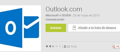outlook correo app android