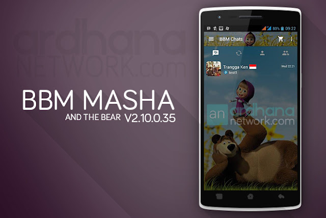 BBM Masha and The Bear - BBM Android V2.10.0.35