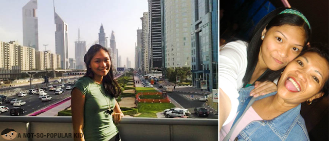 Cz Santos in Dubai with her mom!