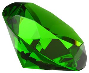 Batu kelahiran Bulan Mei adalah emerald