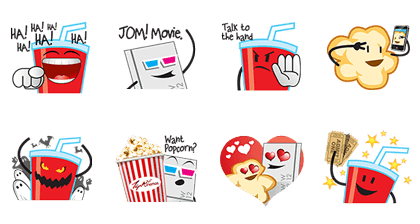 Let's Go to a Movie stickers