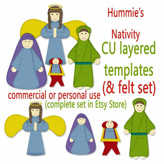 Nativity Layered Template and a Freebie