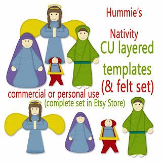 Nativity Layered Template and a Freebie