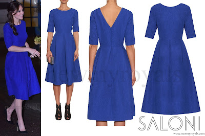 Kate Middleton Style SALONI Martine Crinkle-Effect Dress