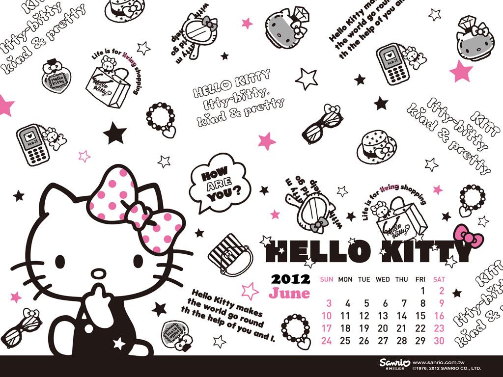 Best Wallpaper Hello Kitty Cute - hello-kitty-june-calendar-wallpaper-1024-768  Pic_238291.jpg