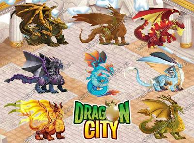 imagen de los nuevos dragones de dragon city