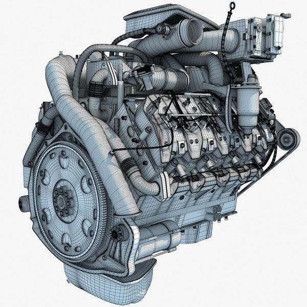 3d models Car engine