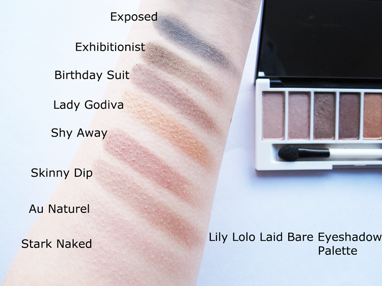 Lily Lolo Laid Bare Eyeshadow Palette review