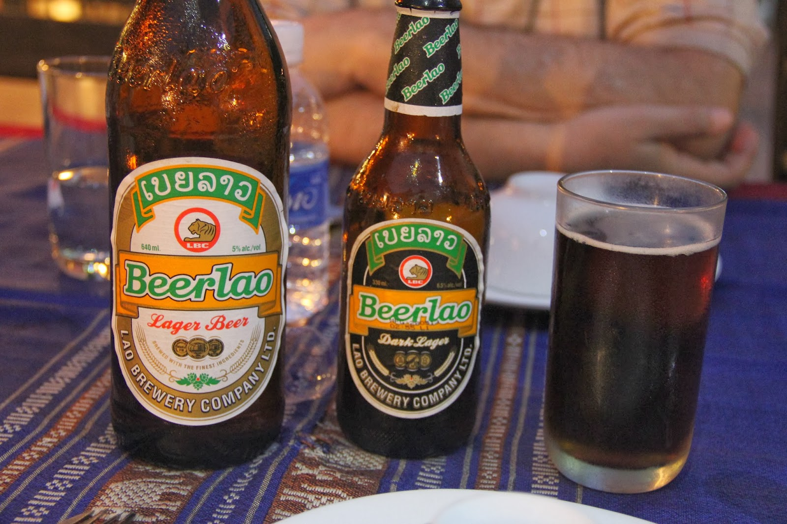 A new country, a new beer!  Lager and Dark Lager were our only choices in Laos.