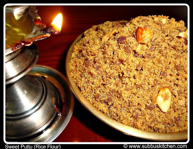 Navarathri Special | Sweet Puttu (Rice Flour)