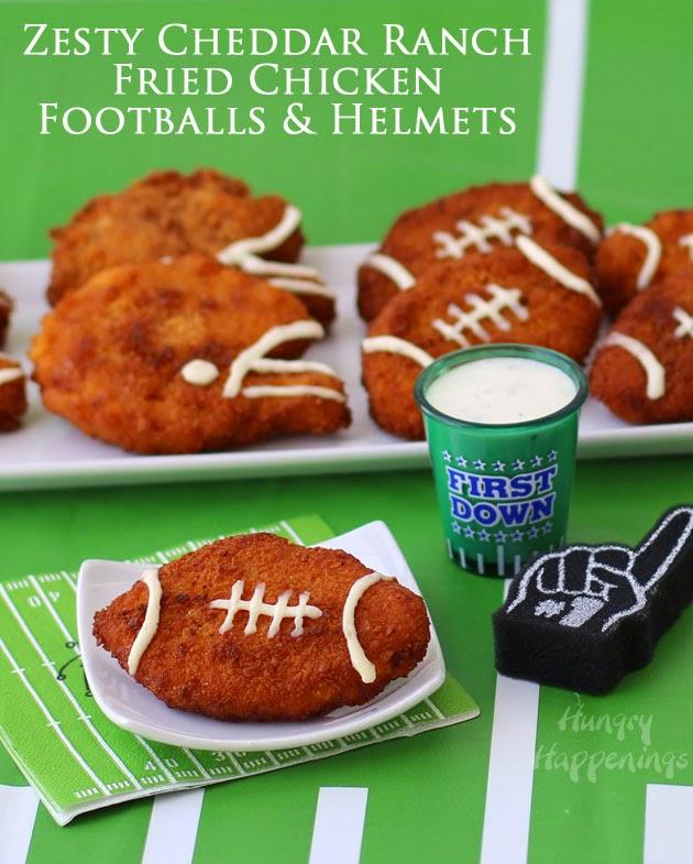 Zesty Cheddar Ranch Crispy Fried Chicken Footballs