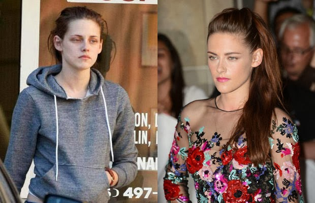 Hollywood celebrities without makeup and photoshop editing