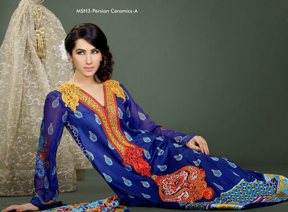 MashaalEmbroideredCollection2014VOL 03ByLalaTextile 14  - Mashaal Embroidered Collection 2014 VOL-3