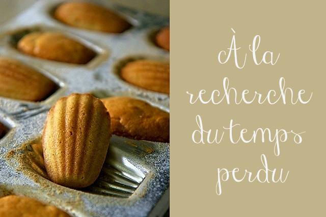 Madeleines, to illustrate the theme 'in search of lost time'